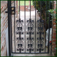 Wrought Iron Driveway gate, Yuba City