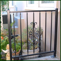 Wrought Iron Fence, Davis